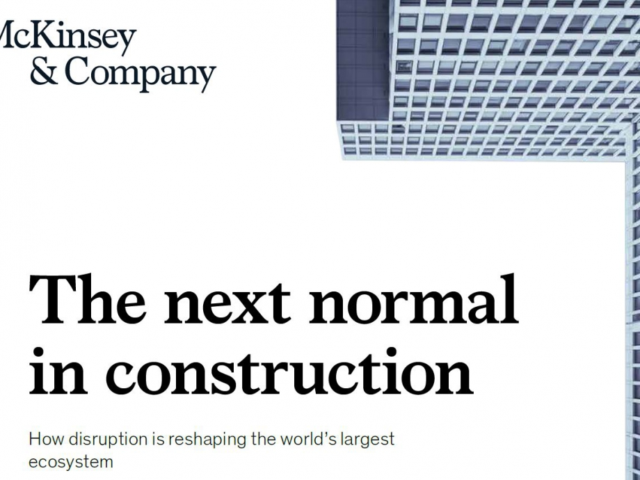 McKinsey_The next normal in construction